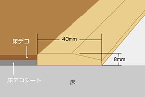 段差見切り・厚8mm×巾40mm